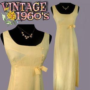 1960s handmade linen gown